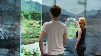 Preview for research project: BodyLenses – Embodied Magic Lenses and Personal Territories for Wall Displays