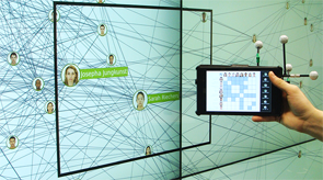 Vorschau für das Forschungsprojekt: GraSp: Combining Spatially-aware Mobile Devices and a Display Wall for Graph Visualization and Interaction