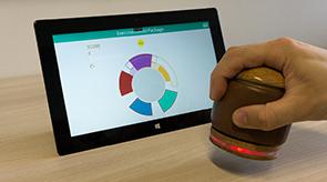 Vorschau für das Forschungsprojekt: HANDle: A Novel Tangible Device for Hand Therapy Exergames