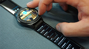 Vorschau für das Forschungsprojekt: Watch+Strap: Extending Smartwatches with Interactive StrapDisplays