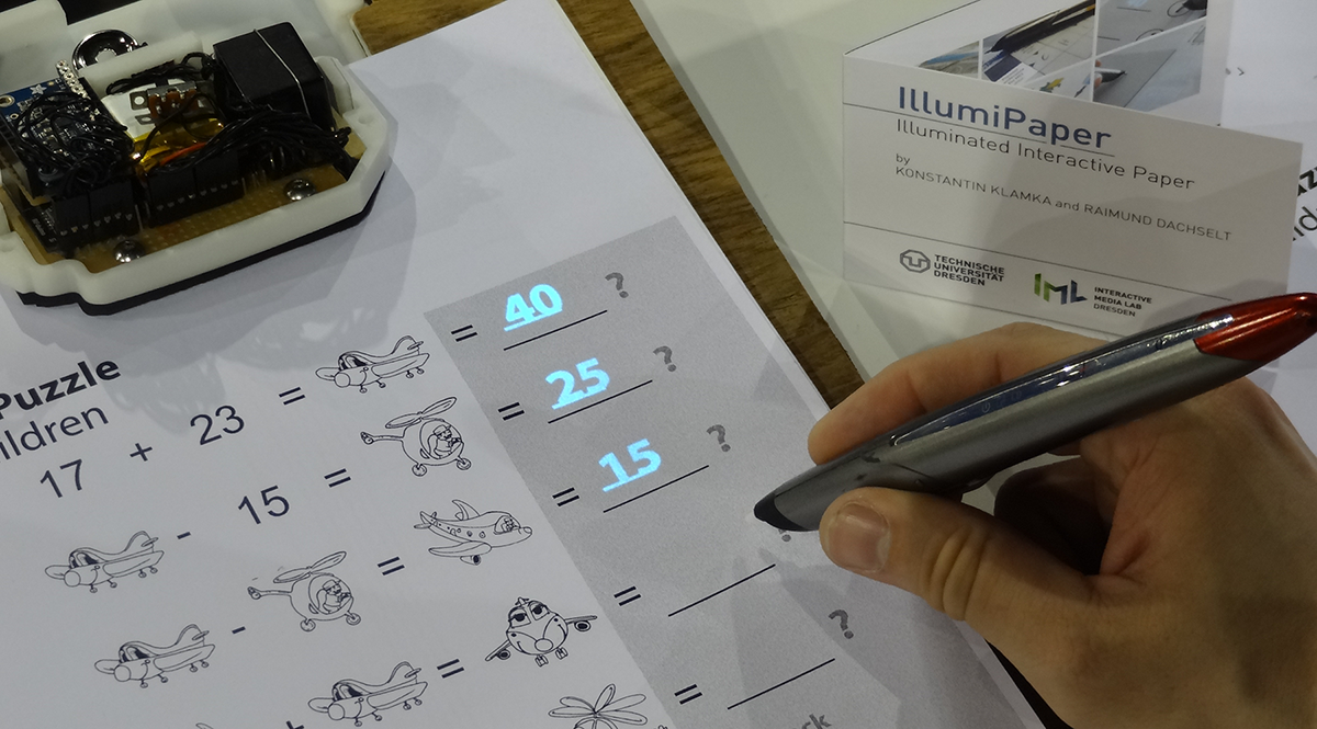 Preview for research project: IllumiPaper: Illuminated Interactive Paper