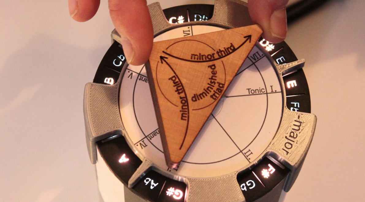 Preview for research project: ScaleDial: A Novel Tangible Device for Teaching Musical Scales & Triads