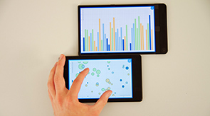 Vorschau für das Forschungsprojekt: VisTiles: Coordinating and Combining Co-located Mobile Devices for Visual Data Exploration.